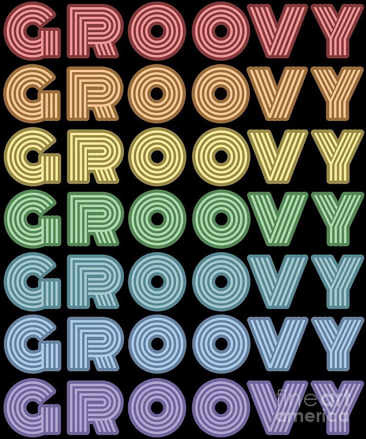 Retro Groovy Hippie Disco Dance Vintage 60s 70s Gift by Minted Fresh