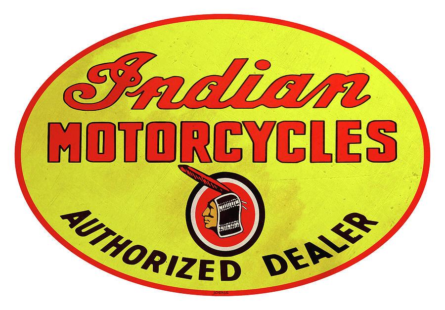 Retro Indian Motorcycles Digital Art