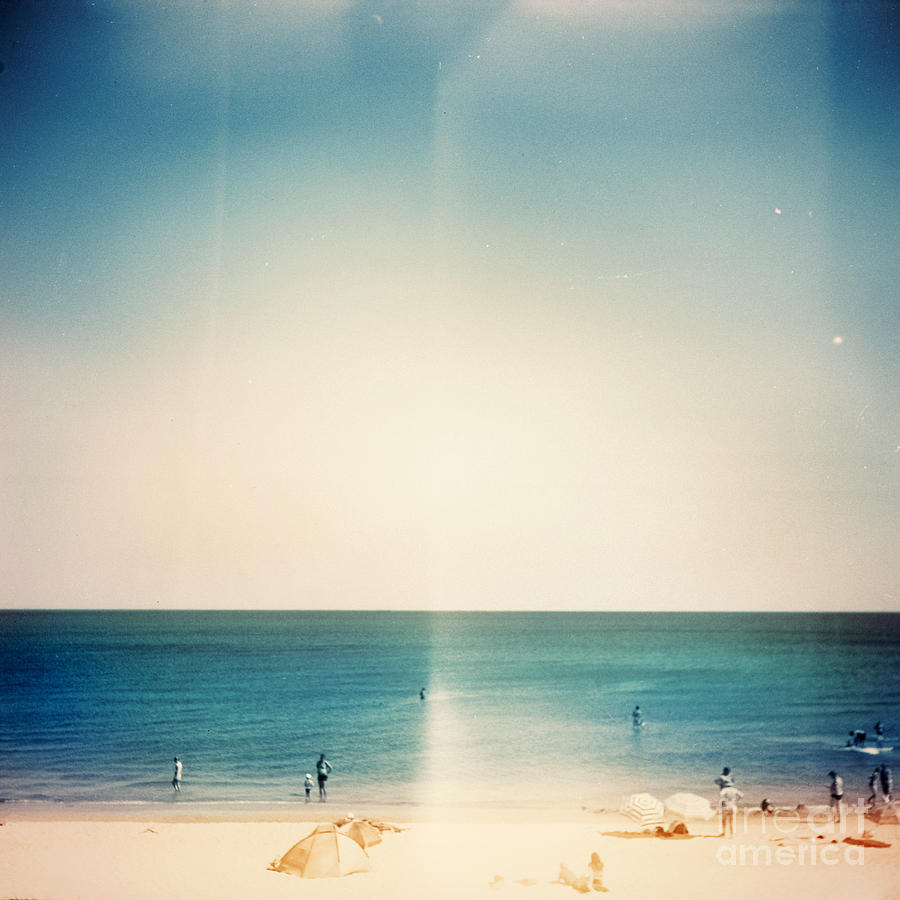 Template Photograph - Retro Medium Format Photo. Sunny Day On by Donatas1205