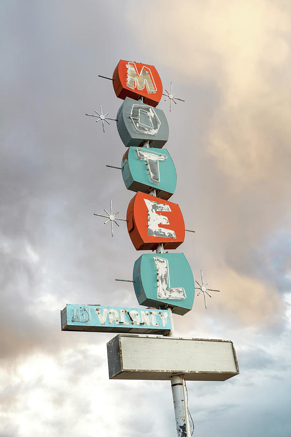 Retro Motel Sign Photograph by Hadelproductions