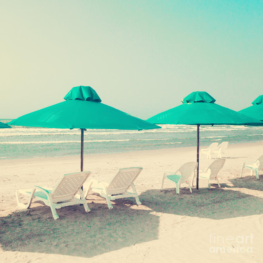 Romance Photograph - Retro Pastel Beach by Andrekart Photography