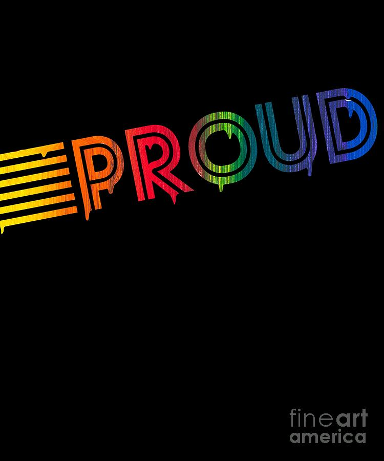 Retro Proud Rainbow Gay Pride Dripping Paint by Flippin Sweet Gear