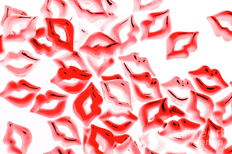 Lips Photograph - Retro Red Lips by Jorgo Photography - Wall Art Gallery