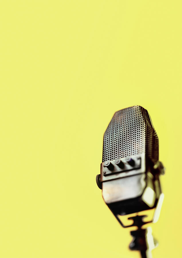 Retro Ribbon Microphone Photograph by Peter Dazeley