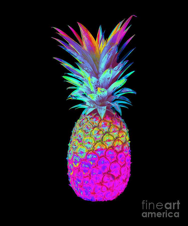 Retrowave Neon Pineapple Vaporwave Hawaiian Gift by DC Designs SuaMaceir