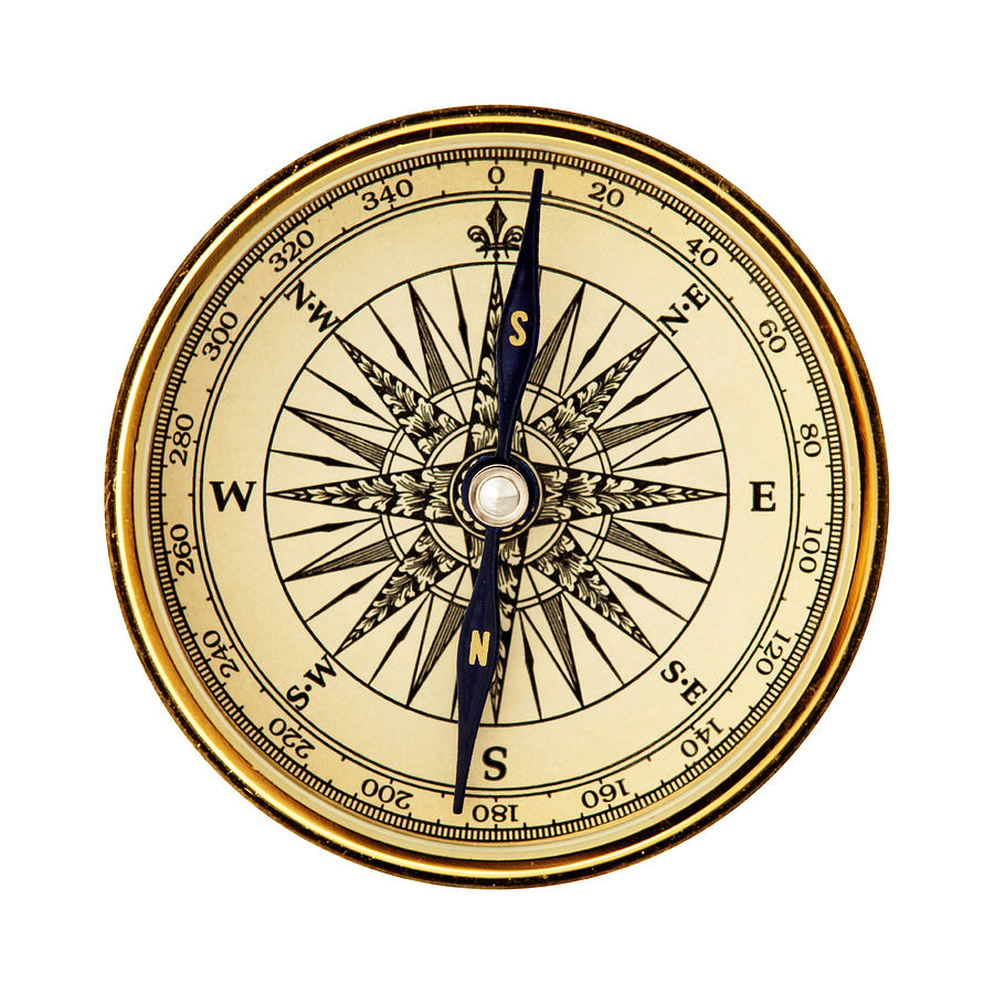Reverse Pole Compass Photograph by Slobo