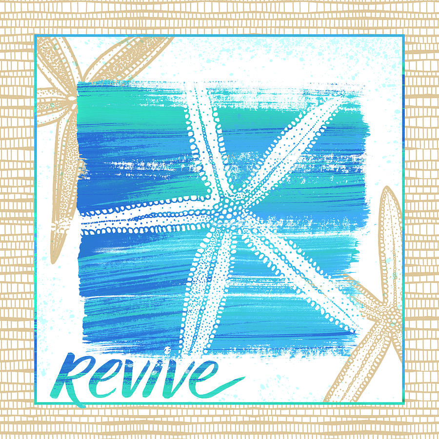 Revive Starfish Coastal Art by Jen Montgomery