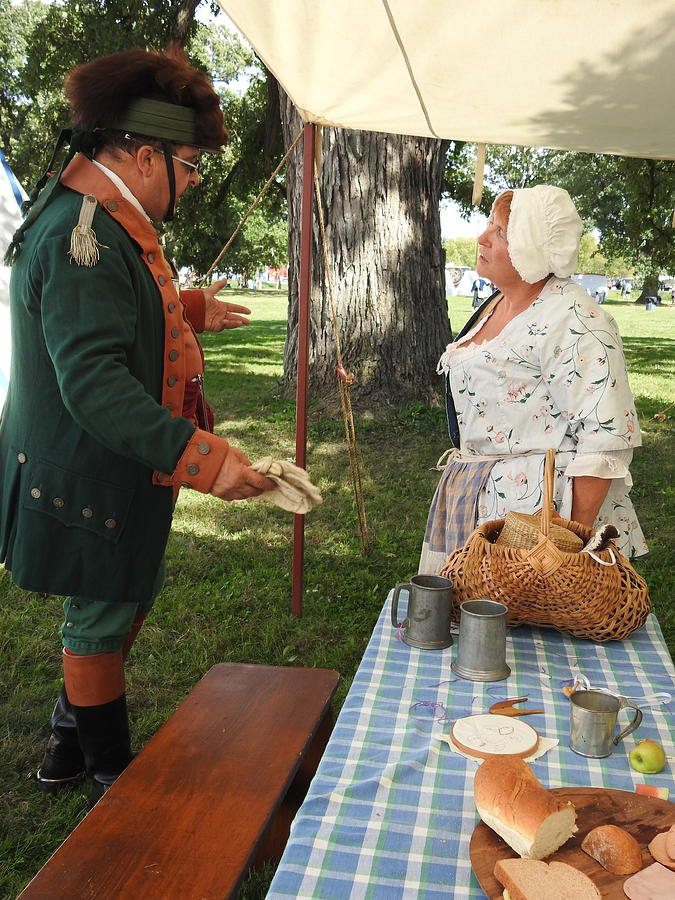 Colonial Soldier Photograph - Revolutionary War Confrontation by Barbara Ebeling