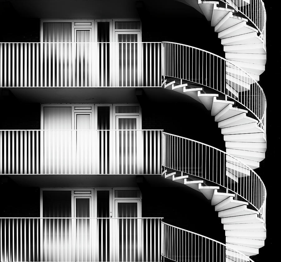 Abstract Photograph - Revolving Access by Greetje Van Son