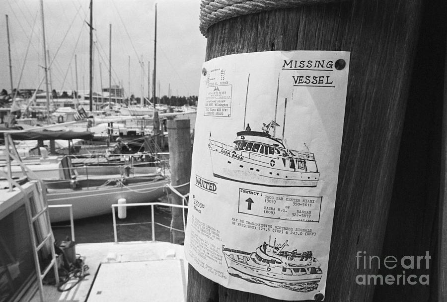 Reward Poster For Missing Yacht Photograph by Bettmann