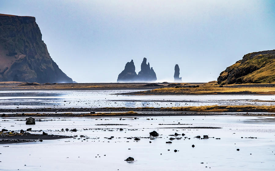 Iceland Photograph - Reynisfjara Stacks by Framing Places