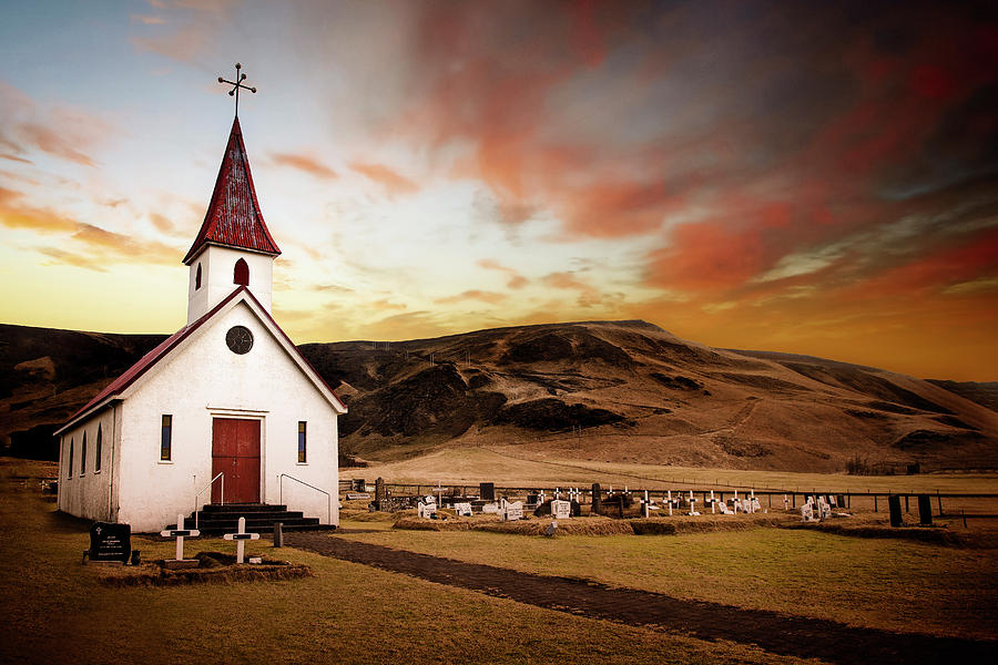 Reyniskirkja Lutheran Church in Iceland by Kathryn McBride