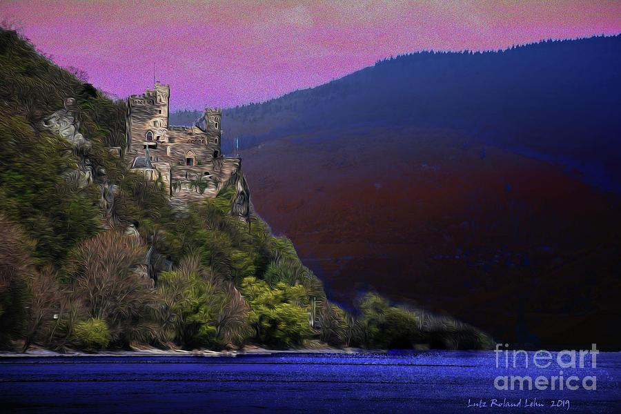 Castle Digital Art - Rheinstein Castle by Lutz Roland Lehn