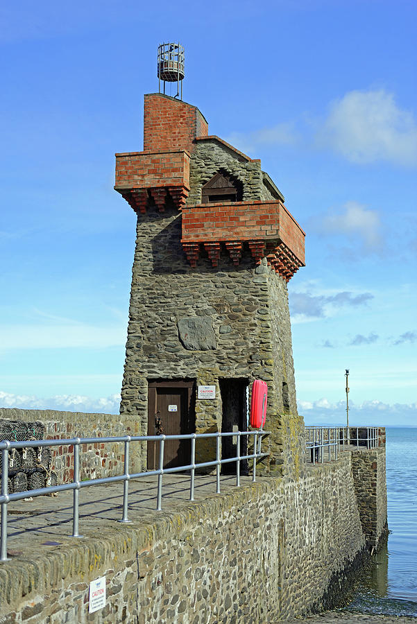 Rhenish Tower and Quay - Lynmouth - Devon by Rod Johnson