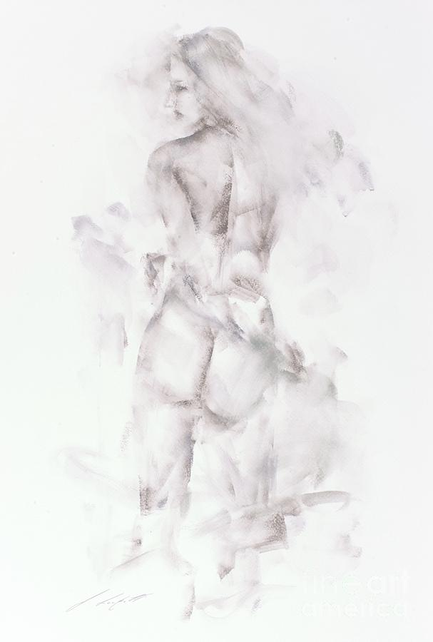 Female Nude Painting - Rhianon by Janette Lockett
