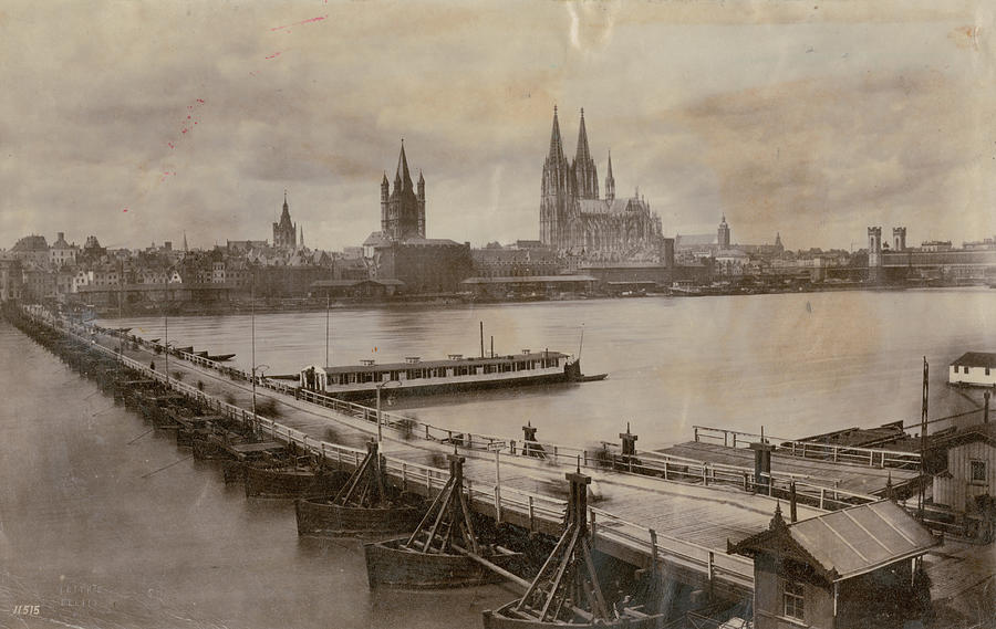 Rhine In Cologne Photograph by Hulton Archive