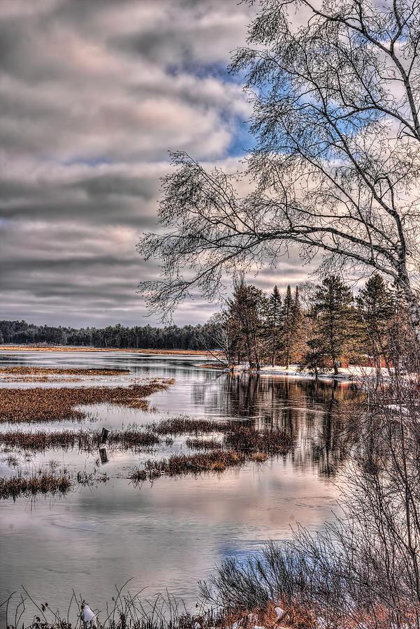 Rhinelander Flowage November Morning by Dale Kauzlaric