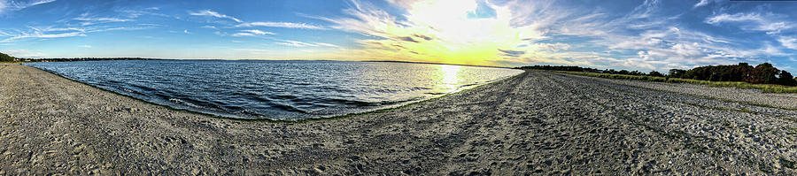 Rhode Island Beach Pano by Sharon Popek