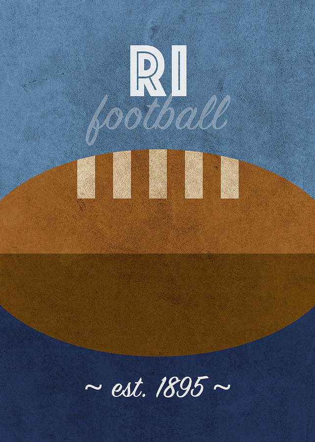 Rhode Island Mixed Media - Rhode Island Football College Sports Retro Vintage Poster by Design Turnpike