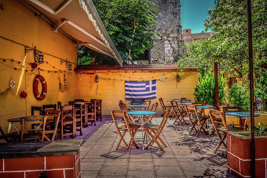 Rhodes Cafe by Bill Howard