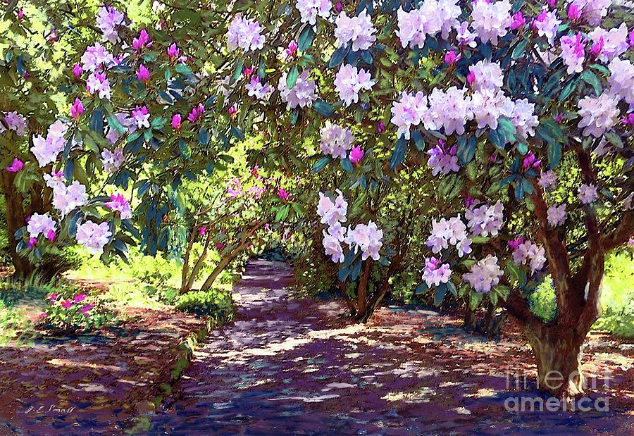 Rhododendron Painting - Rhododendron Garden by Jane Small
