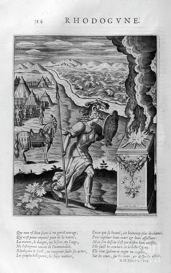 Rhodogune, 1615. Artist Leonard Gaultier Drawing by Print Collector