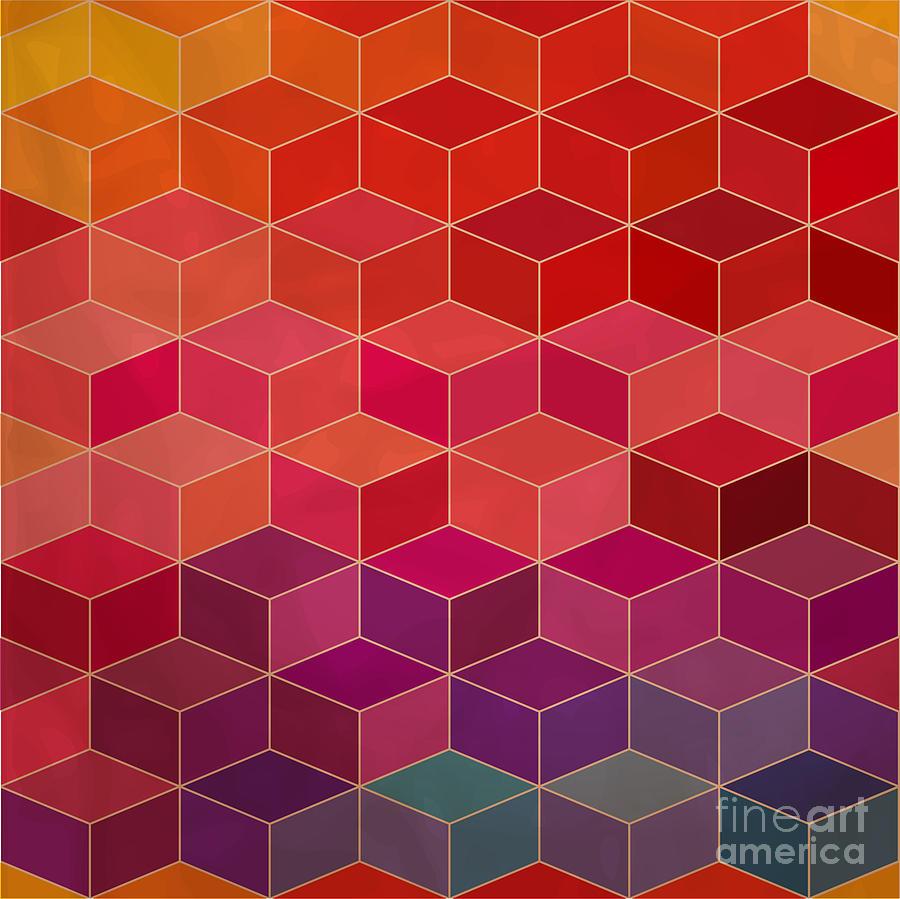 Small Digital Art - Rhombic Seamless Pattern.seamless by Markovka