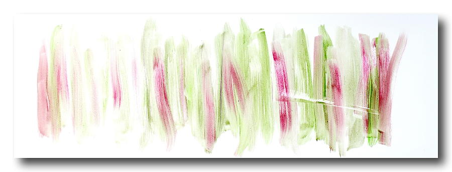 Oil Abstract Painting - Rhubarb in the Garden by Tom Atkins