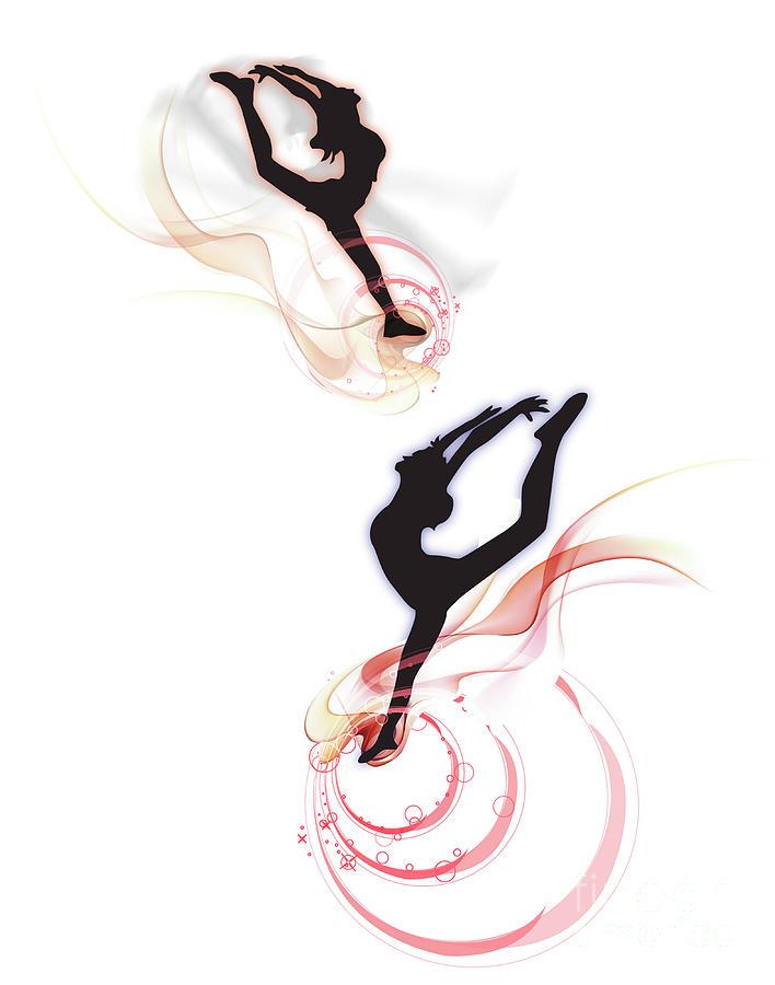 Rhythmic Gymnastics,composite Digital Art by View Stock