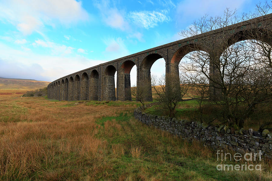 Ribblehead Viaduct Photograph - Ribblehead Viaduct On The Settle Carlisle Railway North Yorkshire by Louise Heusinkveld