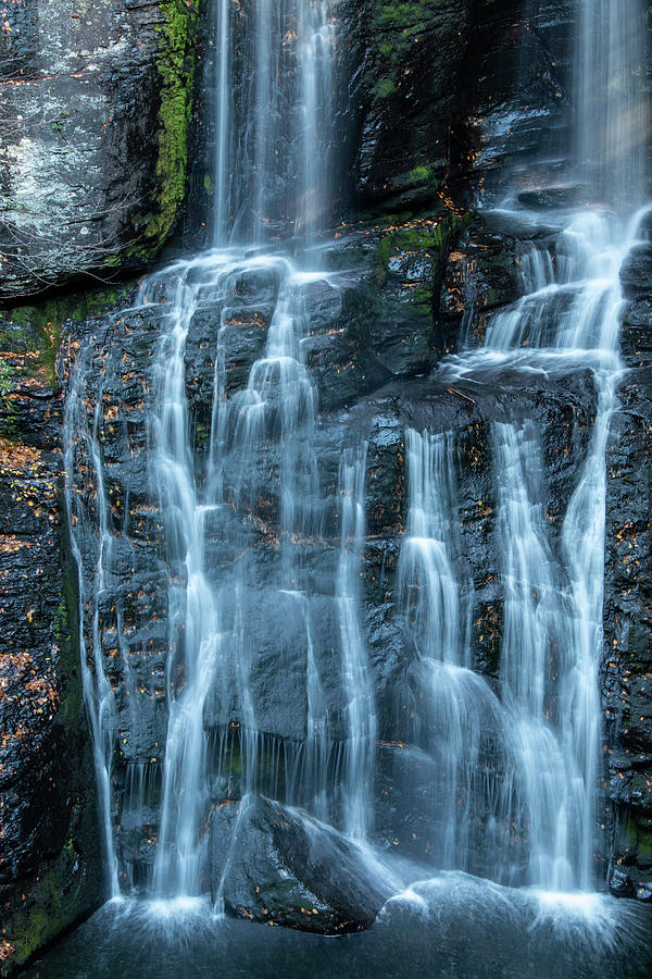 Ribbons of Water at Bushkill Falls by Kristia Adams