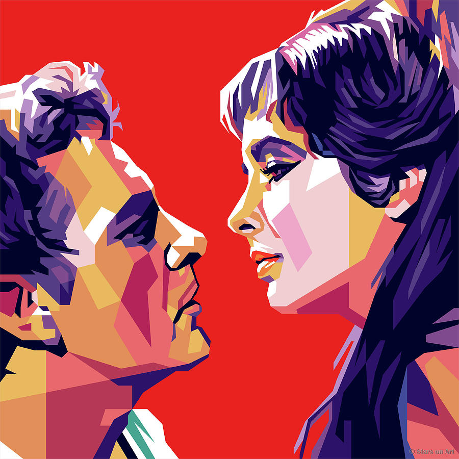 Richard Burton And Elizabeth Taylor Digital Art