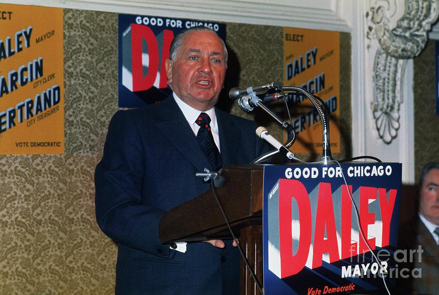 Richard Daley Giving A Speech Photograph by Bettmann
