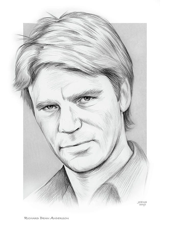 Richard Dean Anderson Drawing