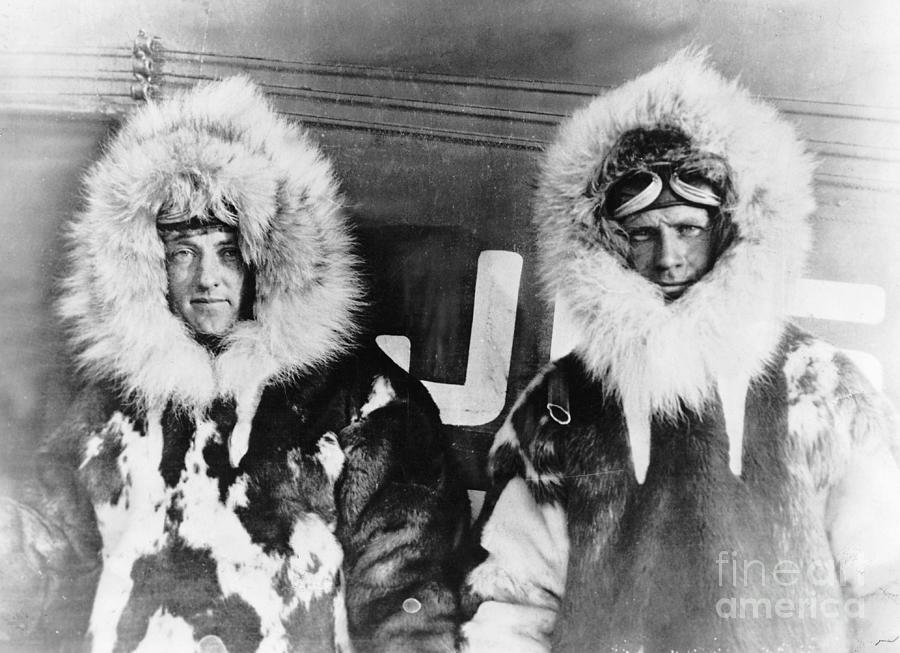 Richard E. Byrd And Floyd Bennett Photograph by Bettmann