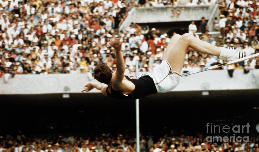 Richard Fosbury Jumping High Bar Photograph by Bettmann