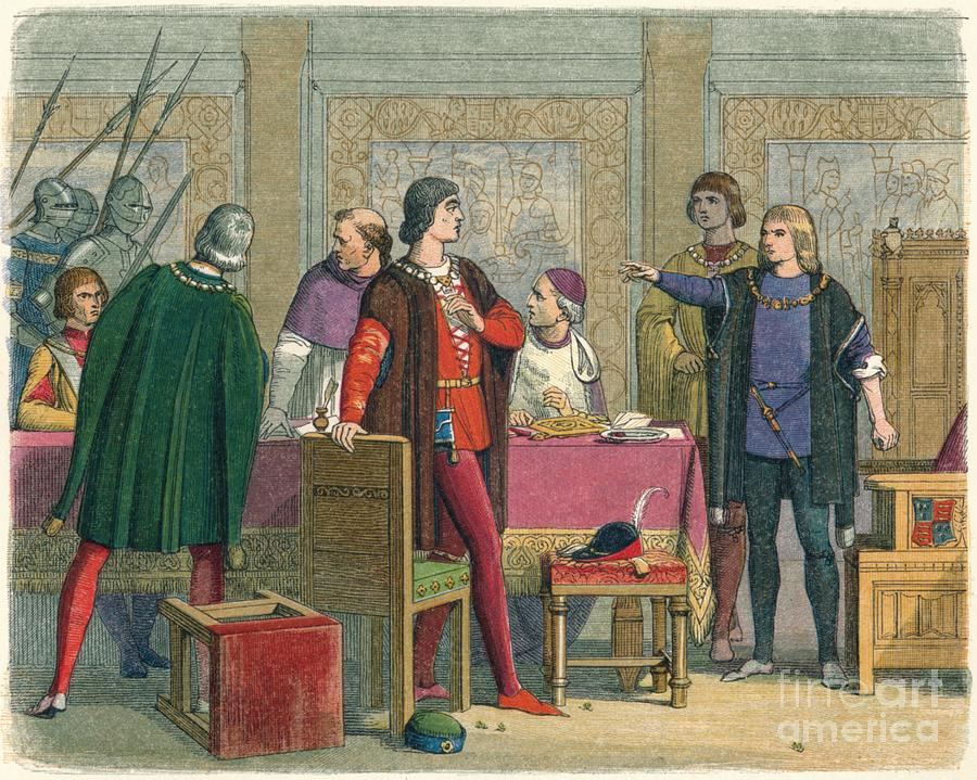 Richard Orders The Arrest Of Hastings Drawing by Print Collector