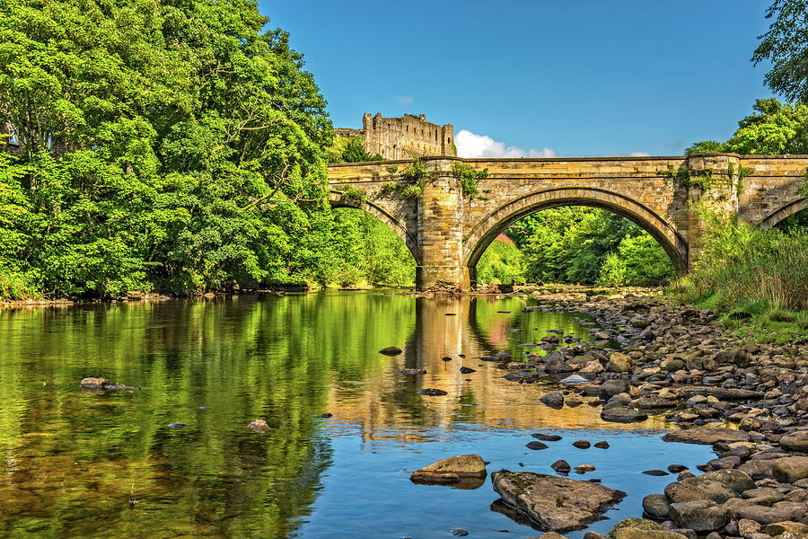 Richmond Castle Photograph - Richmond Castle And The River Swale by David Ross