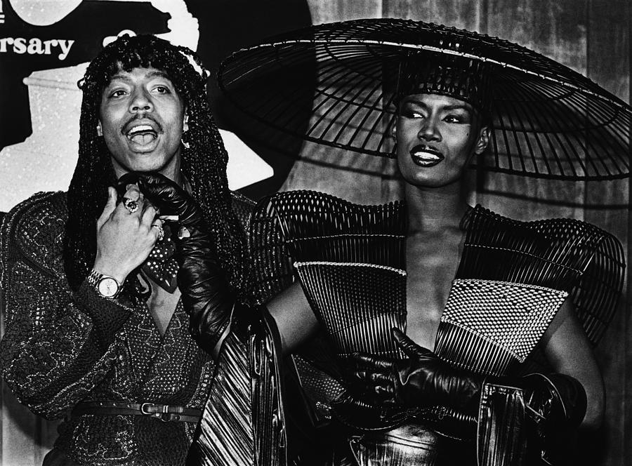 Rick James And Grace Jones Attend Photograph by George Rose
