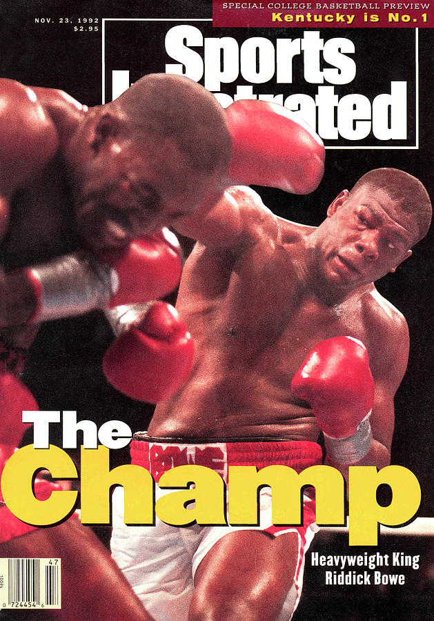 Riddick Bowe, 1992 Wbcwbaibf Heavyweight Title Sports Illustrated Cover Photograph by Sports Illustrated
