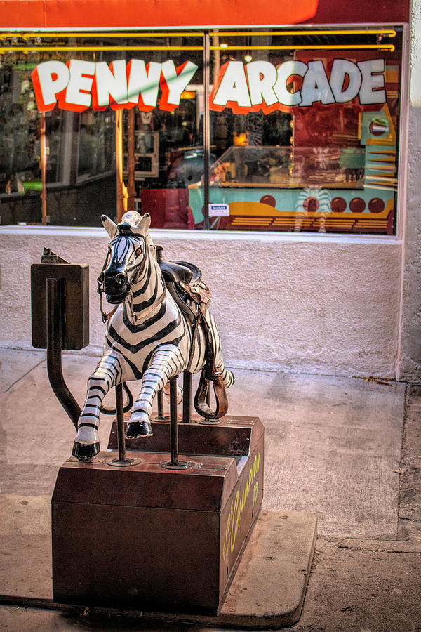 Ride The Zebra At The Penny Arcade by Kristia Adams