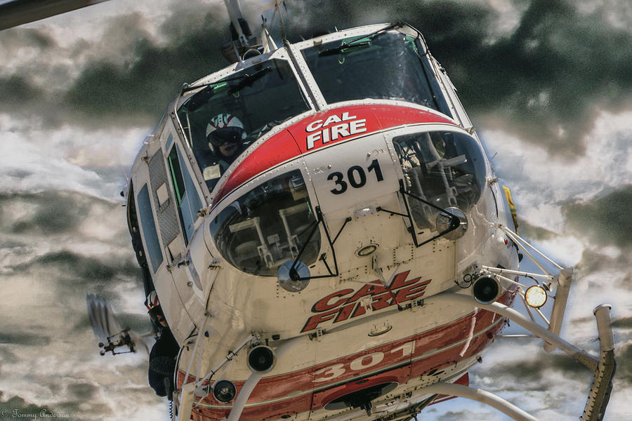 Rider on the storm -CAL Fire by Tommy Anderson