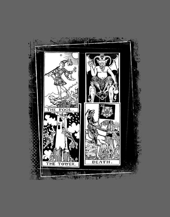 Rider Waite Tarot Cards Collage