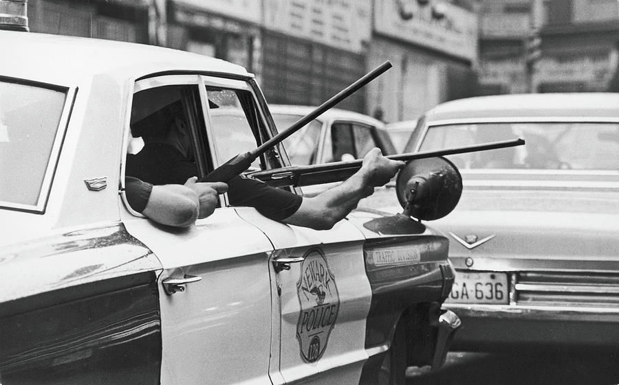Riding Shotgun During Newark Riots, 1967 Photograph by Fred W. McDarrah