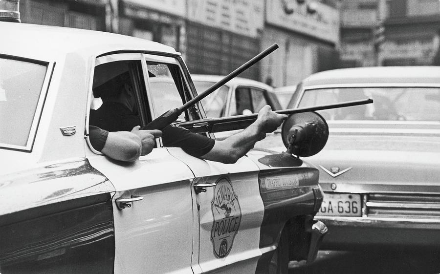 Riding Shotgun During Newark Riots, 1967 Photograph by Fred W. McDarrah
