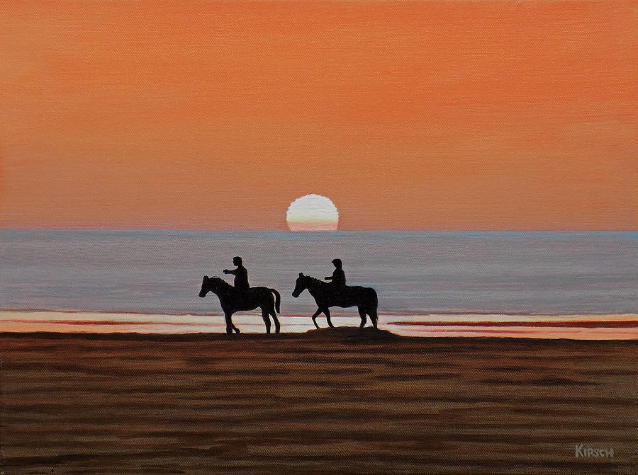 Riding Sunset Beach by Kenneth M Kirsch
