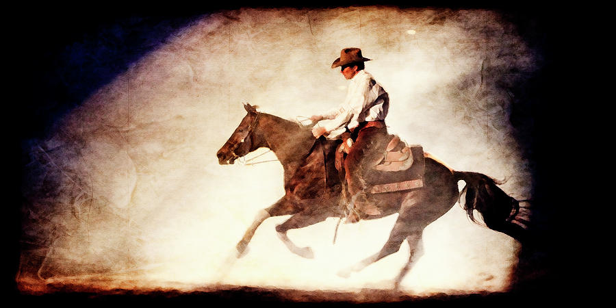 Cowboy Photograph - Riding the Light by Lincoln Rogers