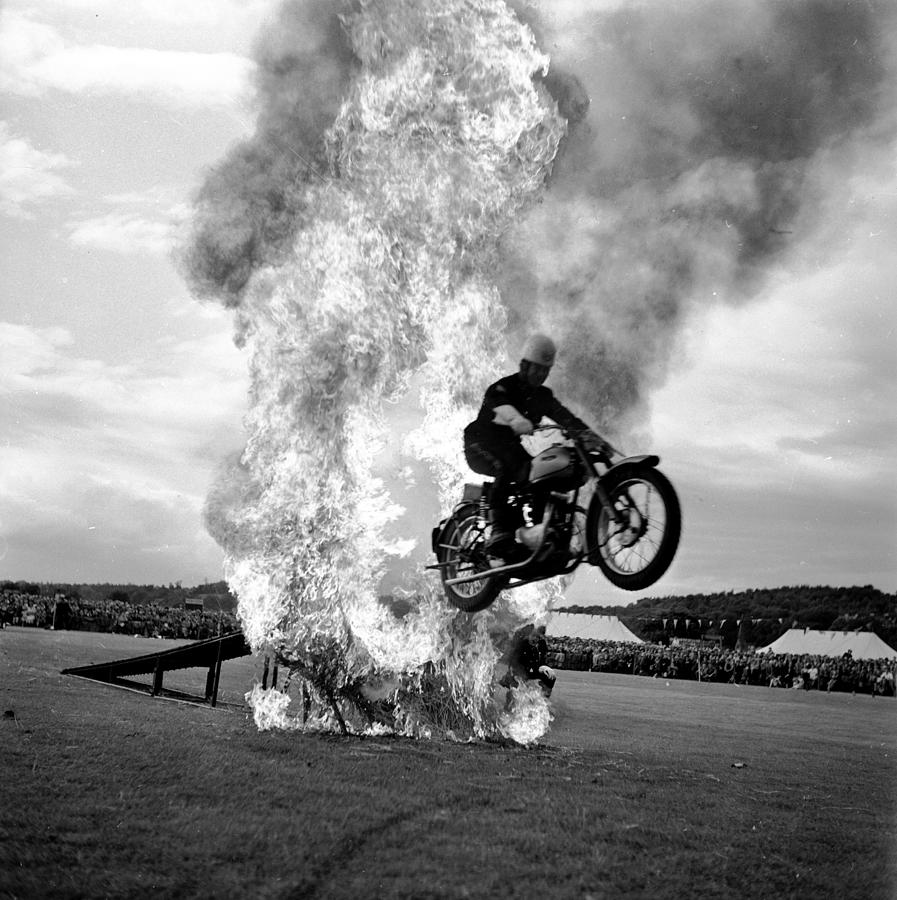 Riding Through Fire Photograph by Chris Ware