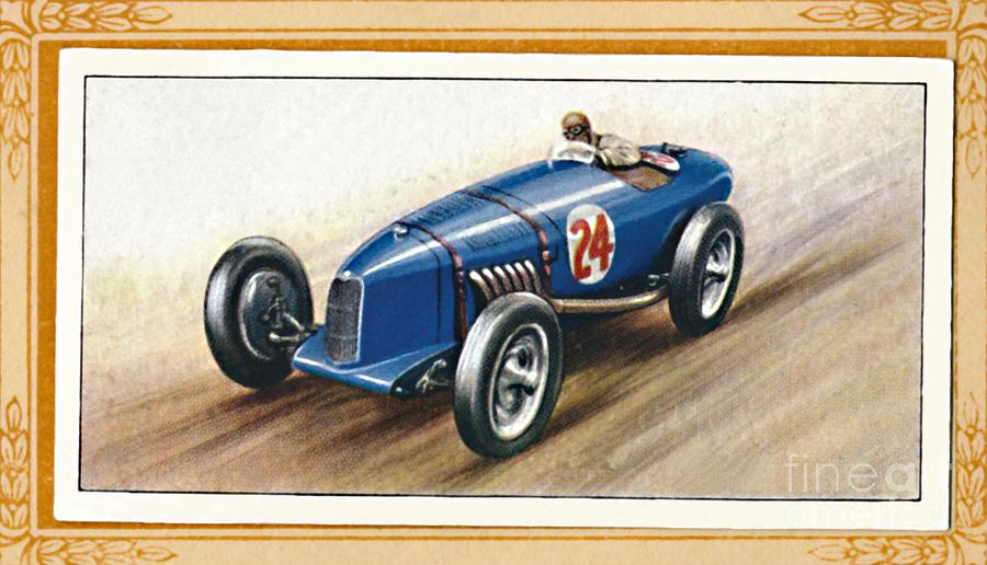 Riley Two-litre Racing Model, C1936 Drawing by Print Collector