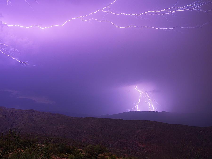 Rincon Mountains Lightning Storm Photograph